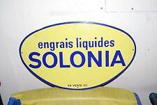 PLAQUE EMAILLEE ENGRAIS LIQUIDES SOLONIA EMAILLERIE ALSACIENNE 60X36