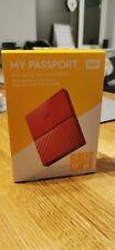 Western Digital My Passport 3TB RED, Portable Hard Drive BRAND NEW/SEALED
