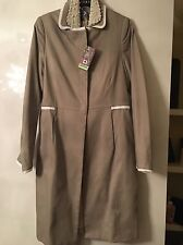 BNWT, Beige And Ivory Trimmed Coat, Vilagallo, Size 12