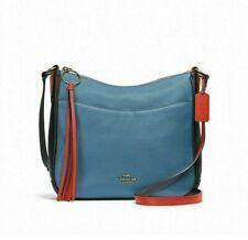 Coach 38696 Lake Multi Blue Colorblock Pebble Leather Chaise Crossbody Bag NWT