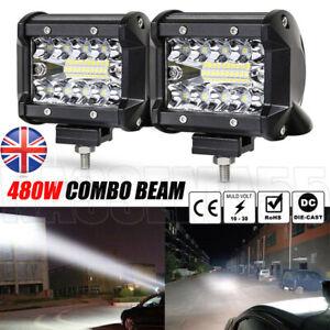 480W LED Work Light Bar Flood Spot Lights Driving Lamp Offroad Car Truck SUV