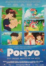 Hayao Miyazaki PONYO Das grosse Abenteuer am Meer Original Filmplakat A0 GEROLLT
