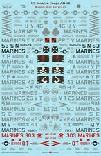 Flying Leathernecks Decals FL48019 1/48 AH-1Z Marine Skid Kid Zulu for Kittyhawk