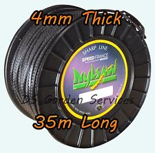 NYLSAW 4mm x 35m Roll SPIKY Line SERRATED SHARP STRIMMER TRIMMER WIRE CORD