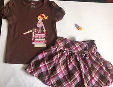 GYMBOREE SUNFLOWER SMILES OUTFIT 3 3T vintage Skirt Shirt BTS Plaid Hair Lot