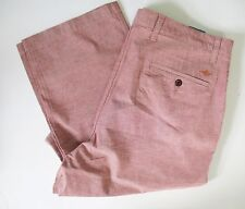 Dockers Mens Stretch Straight Fit Washed Khaki Pants D2 Bank Red Sz 32x34 - NWT