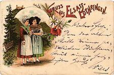 CPA  Gruss aus Elsass-Lothringen - Litho - Folklore - Types  (481553)
