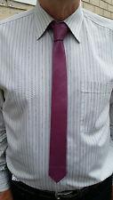 Handmade VIKTOR SABO  FUSCHIA Leather Tie 1.5 inch / 3.8 cm - Make Ur Style