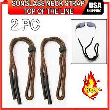 2 Brown Sunglasses Lanyard Cord Neck Strap Glasses Retainer Nylon String Sports