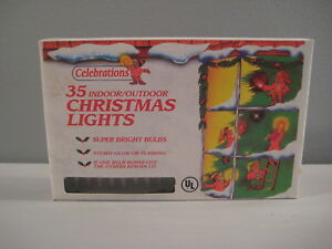New Set of 35 Clear Christmas Lights Super Bright Bulbs Wedding Bday Party 16'