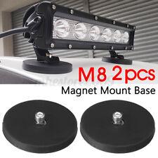 2x Powerful Magnetic Round Base Mount Bracket Clamp Roof LED Light Bar Holder