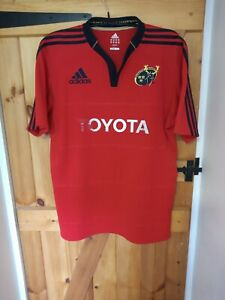 """MUNSTER HOME 2011 RUGBY UNION SHIRT BY ADIDAS SIZE XL 44/46"""""""