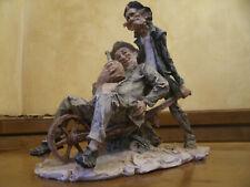 "Rare Antica Statue Sculpture Giuseppe Armani ""Ubriacone"" Drunkard Made in Italy"