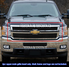 For Chevy Silverado 2500HD/3500HD Black Billet Grille Grill Insert 2011-2014