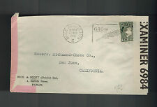 1941 Baile Ireland Dual Censored Cover to  USA Grow Wheat Cancel