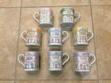 Lenox Village Set of 8 Village Mugs