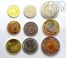 1 2 5 10 20 50 groszy grosz 1 2 5 zloty 2020 Polen Poland full set 9 coins UNC
