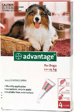 Advantage Red for Large Dogs 10-25 4pk contains 1 box of 4 pippettes