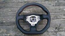 Volant cuir volant adapté AUDI tt 8n BJ. 1998-2006 ci-dessous aplatie.