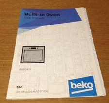 Genuine BEKO BXIF243X Built In Oven Instruction Manual User Guide