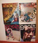4  1974-1978 NHL Minnesota North Stars Hockey Programs vs New York Rangers
