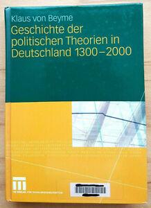 Geschichte der politischen Theorien in Deutschland 1300-2000 Buch 9783531168067