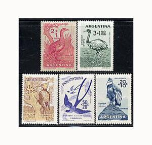 Argentina, Sc #B22-24, CB17-18, MNH,1960, BIRDS, CONDOR, WOODPECKER, AFI-E