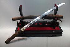 JAPANESE NINJA SECT SHRINE SAMURAI SWORD KATANA PATTERN STEEL HUA LI WOOD SHELL
