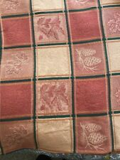 Gorgeous fabric tablecloth 106X54 w/ 8 matching napkins fall autumn leaves