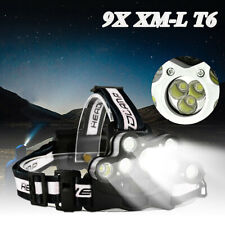 45000LM 9x CREE XM-L T6 LED Scheinwerfer Wiederaufladbar Kopflampe Head Licht DE