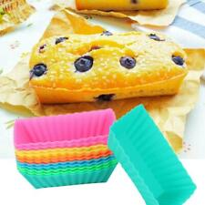 12pcs Silicone Rectangular Soap Mould Cake Muffin Baking Mold Ice Cube Tray