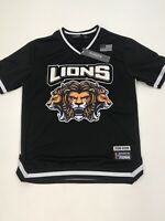 Men Hudson Lions Jersey size LARGE 100%AUTHENTIC nice #33 back hit black