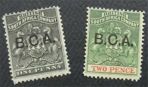 nystamps British Central Africa Stamp # 1.2 MOGH     O22x2156