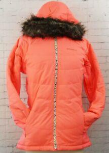O'Neill Rideable Down Snowboard Jacket, Women's Medium, Neon Tangerine New