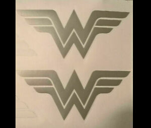 Wonder Woman Pair or HEAD LIGHT Taillight sticker ETCHED DECALS Car Truck AUC