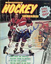 Pete Mahovlich Montreal Canadiens Signed Original Hockey Pictorial Magazine