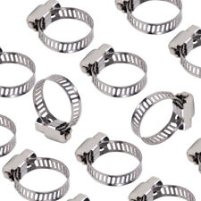 "20pcs 1/2""-3/4"" Adjustable Stainless Steel Drive Hose Clamp Clip Fuel Line Worm"