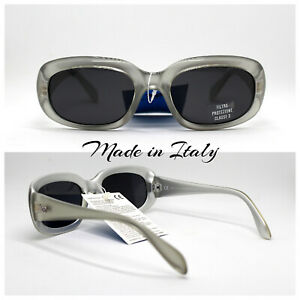 Made IN Italy Sunglasses Woman Rectangular Oval Gold Silver Blue Pearl Vintage