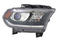 DODGE DURANGO 2014-2015 RIGHT PASSENGER HEADLIGHT HEAD LAMP LIGHT W/O LED BLACK