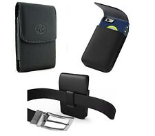 Extra large Vertical Leather Holster Carrying Phone Case With Belt Clip Pouch