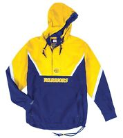 "Golden State Warriors Mitchell & Ness NBA Men's ""Anorak"" 1/2 Zip Pullover Jacket"
