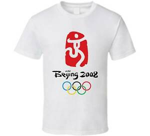 NWT 2008 Beijing Olympic Games T-Shirt White official One World Size S 165/88A