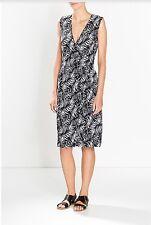 NEW, Trenery Womens Monochrome print  dress Size 14  black & white  RRP $179.00