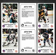 """1988-89 Winnipeg Jets Police """"Jets Tips"""" Complete Set in Panels (24 Cards)"""