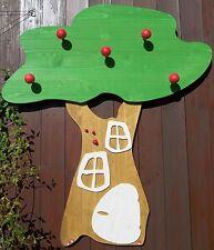 Kindergarderobe Apfelbaum groß Apfelbaumgarderobe, bemalt