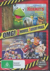 Kermit's Swamp Years + The Muppets Take Manhattan DVD - 2 Movies, 1 Disc SEALED