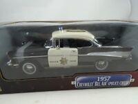 1:18 Road Signature - 1957 Chevrolet Bel Air Policía Jefe # 08 Rareza Nuevo /