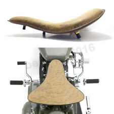 Aged Black Brown Leather Motorcycle Spring Solo Seat For Harley Bobber Chopper