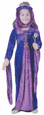 Renaissance Princess Child Girls Costume Headpiece And Fancy Dress Funworld