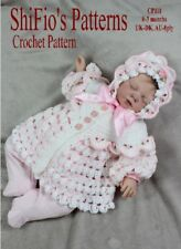 CROCHET PATTERN for BABY JACKET & HAT #111 NOT CLOTHES